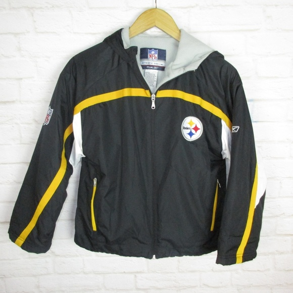 check out 393bc 9c9bc Pittsburgh Steelers NFL Reebok Kids size Medium 10